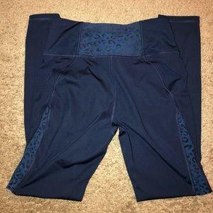 Navy blue Leggings w/ Leopard Design